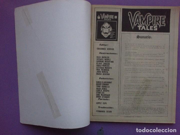 Cómics: ESCALOFRIO Nº 13, VAMPIRE TALES Nº 3 VERTICE ¡¡¡¡¡¡NORMAL/BUEN ESTADO!!!!! - Foto 2 - 96112319