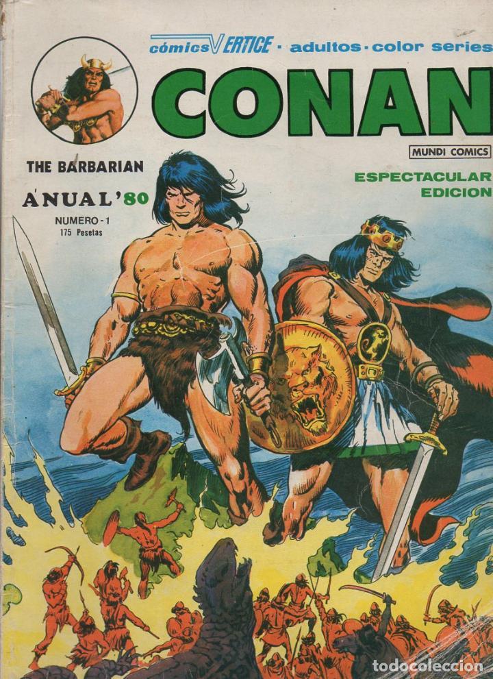 CONAN THE BARBARIAN ANUAL 80 Nº 1 (VÉRTICE MUNDI COMICS) (Tebeos y Comics - Vértice - Conan)