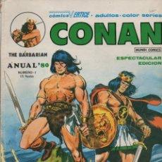 Cómics: CONAN THE BARBARIAN ANUAL 80 Nº 1 (VÉRTICE MUNDI COMICS). Lote 96161203