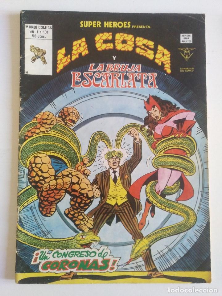 LA COSA Y LA BRUJA ESCARLATA SUPER HEROES VOL. 1 Nº 131 - VERTICE - SURCO - MUNDI-COMICS (Tebeos y Comics - Vértice - Surco / Mundi-Comic)