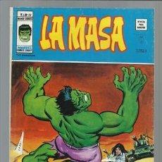Comics: LA MASA V3 Nº 22, 1977, VERTICE, MUY BUEN ESTADO. Lote 123564324