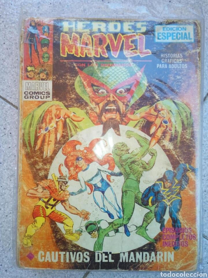 HEROES MARVEL N° 2 VERTICE CON LOS INHUMANOS. CAUTIVOS DEL MANDARIN (Tebeos y Comics - Vértice - Super Héroes)