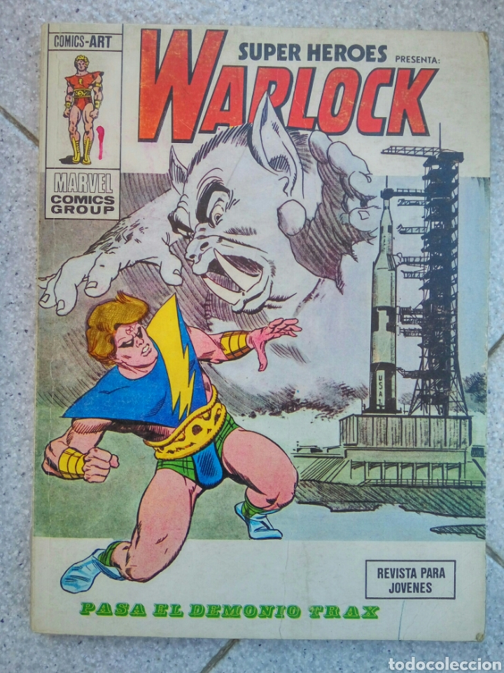 SUPER HEROES 5 VERTICE WARLOCK PASA EL DEMONIO TRAX (Tebeos y Comics - Vértice - Super Héroes)