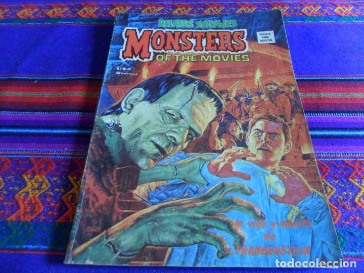 VÉRTICE VOL. 1 RELATOS SALVAJES Nº 49 MONSTERS OF THE MOVIES. FRANKENSTEIN. 1977. 50 PTS. RARO. (Tebeos y Comics - Vértice - Relatos Salvajes)