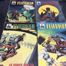 Cómics: FLIERMAN Nº 1,2,3,4 MUNDICOMICS -ED. VERTICE - FALTA Nº 5. Lote 192715410