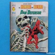 Cómics: HEROES MARVEL Nº 19. EL HOMBRE DE HIERRO Y DAN DEFENSOR. C-20. Lote 98561143