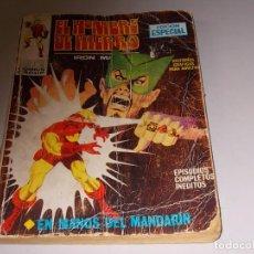 Cómics: EL HOMBRE DE HIERRO, IRON MAN Nº 4 EN MANOS DEL MANDARÍN, ESTADO LAMENTABLE, VER FOTOS. Lote 98683835