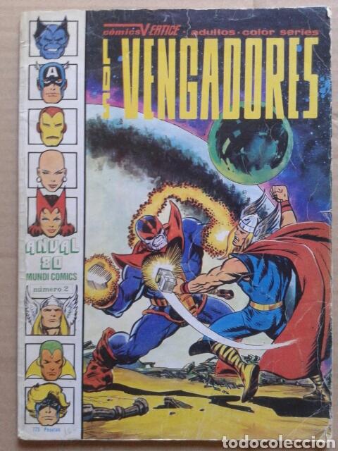 LOS VENGADORES ANUAL 80 N°2. MUNDI COMICS / EDICIONES VÉRTICE. 74 PÁGINAS A COLOR EN GRAN FORMATO. (Tebeos y Comics - Vértice - Vengadores)