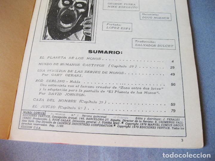 Cómics: COMIC DE EL PLANETA DE LOS MONOS - MUNDI COMICS Nº 1 - Foto 2 - 99467135