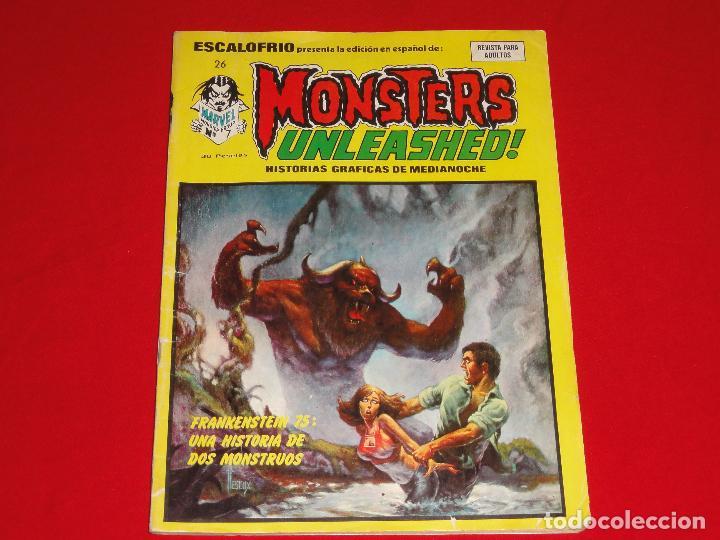 ESCALOFRIO Nº 26. MONSTERS UNLEASHED! VERTICE. C-20 (Tebeos y Comics - Vértice - Terror)