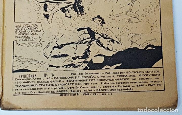 Cómics: Comics SPIDERMAN.Numero 54 Marvel comics group , Ediciones Vertice - Foto 4 - 173094954