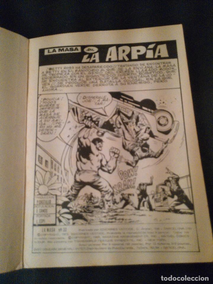 Cómics: LA MASA. LA ARPIA. EDICIONES VERTICE AÑO 1973. MUM.33. - Foto 2 - 178762998