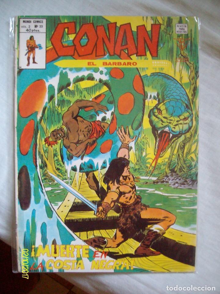 CONAN EL BARBARO Nº 33 MUERTE EN LA COSTA NEGRA VERTICE (Tebeos y Comics - Vértice - Conan)