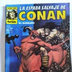 Cómics: LA ESPADA SALVAJE DE CONAN, 1º EDICIÓN, Nº 167, SERIE ORO, FORUM. Lote 100515591