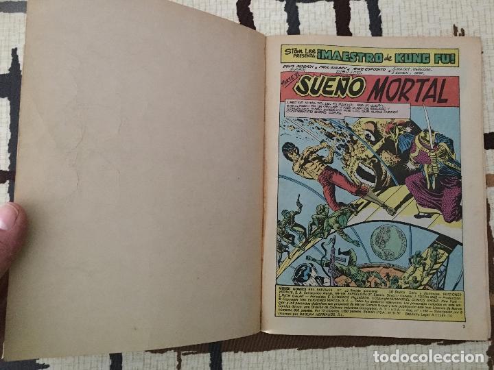 Cómics: Shang Chi. Ediciones Vertice Vol. 2 nº 12. Relatos Salvajes. SUEÑO MORTAL. - Foto 4 - 100453051