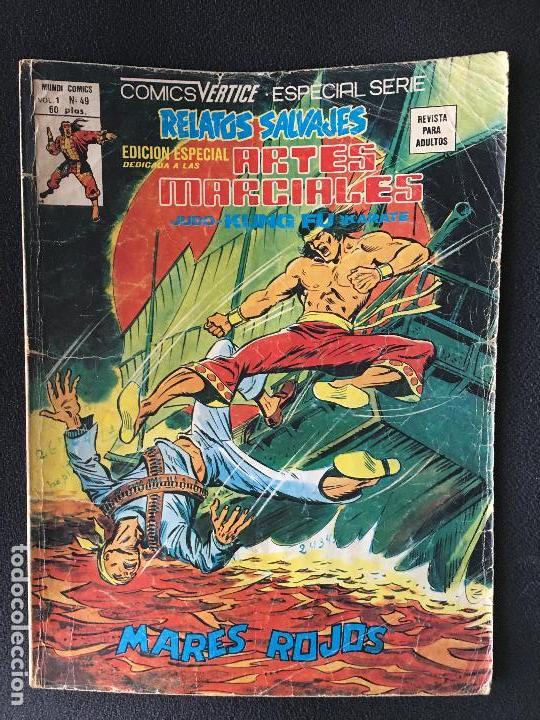 SHANG CHI. EDICIONES VERTICE VOL. 1 Nº 49. RELATOS SALVAJES. MARES ROJOS. (Tebeos y Comics - Vértice - Relatos Salvajes)