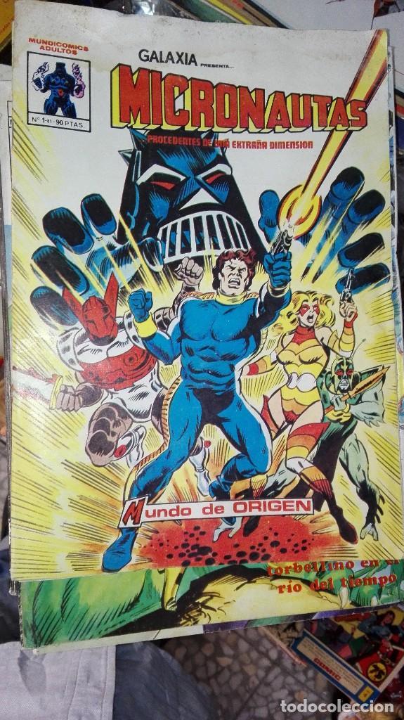 COMIC GALAXIA PRESENTA MICRONAUTAS MUNDO DE ORIGEN Nº1-81 Nº 1 MUNDI COMICS AÑO1981 (Tebeos y Comics - Vértice - Surco / Mundi-Comic)