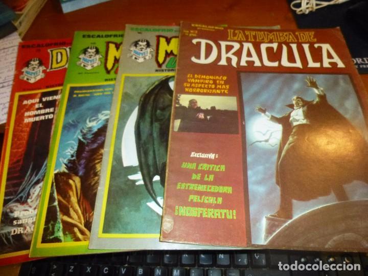 ESCALOFRIO, LA TUMBA DE DRACULA Nº 2, MONSTERS UNLEASHED Nº 16 Y 19, DRACULA LIVES Nº 28 (Tebeos y Comics - Vértice - Otros)