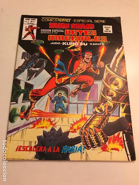 RELATOS SALVAJES ARTES MARCIALES VOL 1 V 1 Nº 51. VERTICE 1978 (Tebeos y Comics - Vértice - Relatos Salvajes)