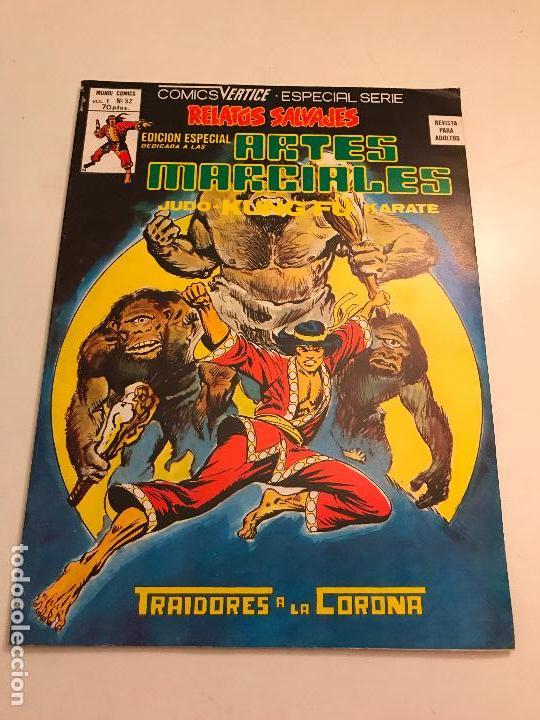 RELATOS SALVAJES ARTES MARCIALES VOL 1 V 1 Nº 52 ULTIMO NUMERO. VERTICE 1978 (Tebeos y Comics - Vértice - Relatos Salvajes)