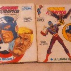 Cómics: CUATRO NÚMEROS CAPITÁN AMÉRICA MARVEL VÉRTICE 1969 BUEN ESTADO. Lote 102523027