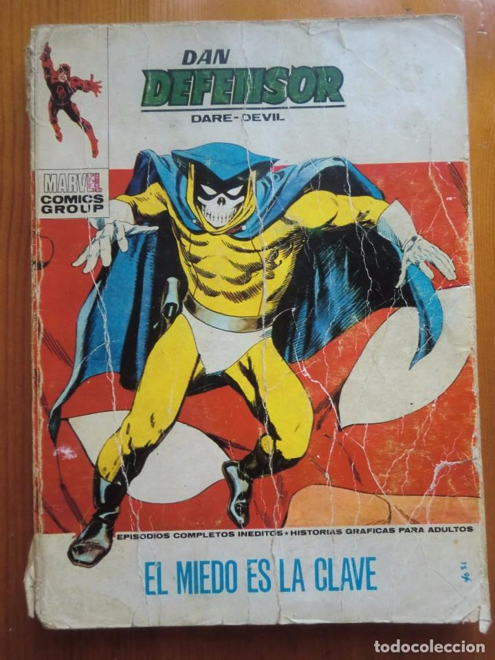 CÓMIC DAN DEFENSOR DARE-DEVIL: EL MIEDO ES LA CLAVE Nº 40 (1973) EDICIONES VÉRTICE. MARVEL (Tebeos y Comics - Vértice - Dan Defensor)