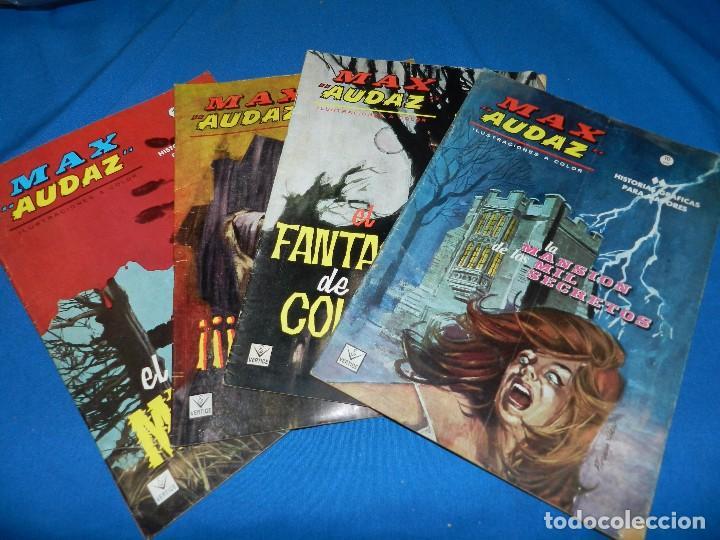 (M1) MAX AUDAZ NUM 1 - 2 - 3 - 4 , VERTICE GRAPA 1965 , SEÑALES DE USO (Tebeos y Comics - Vértice - Grapa)