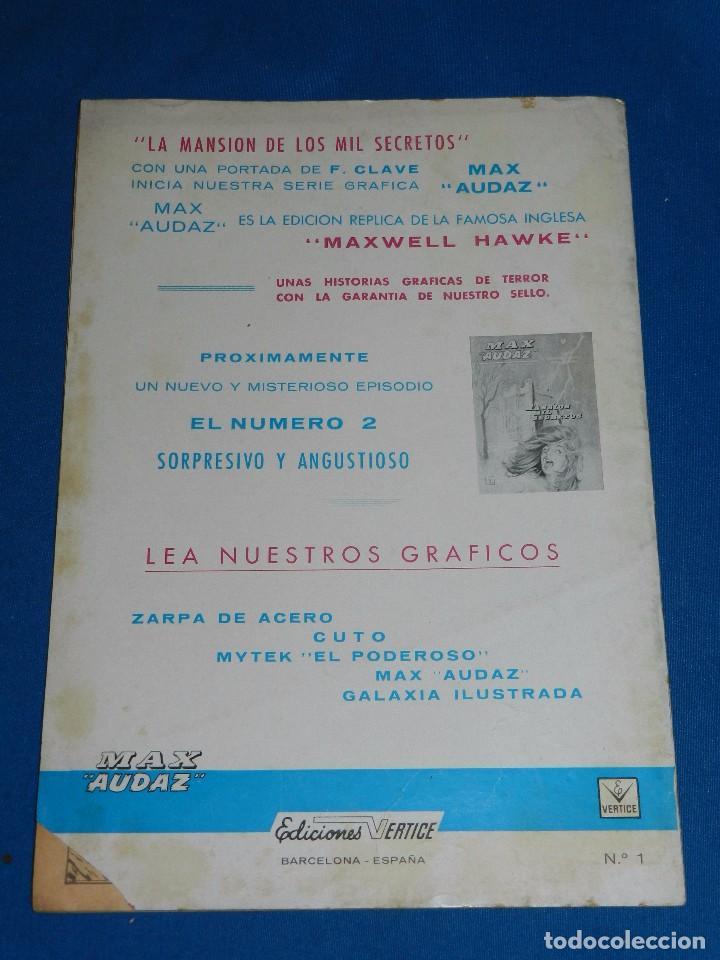 Cómics: (M1) MAX AUDAZ NUM 1 - 2 - 3 - 4 , VERTICE GRAPA 1965 , SEÑALES DE USO - Foto 3 - 103508099