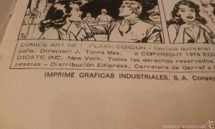 Cómics: FLASH GORDON Vº 1 Nº 1 EDICIONES VERTICE AÑO 1974 - Foto 8 - 103864979