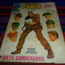 Cómics: VÉRTICE VOL. 1 SARGENTO FURIA Nº 1. 1972. 25 PTS. SIETE CONDENADOS.. Lote 104604619