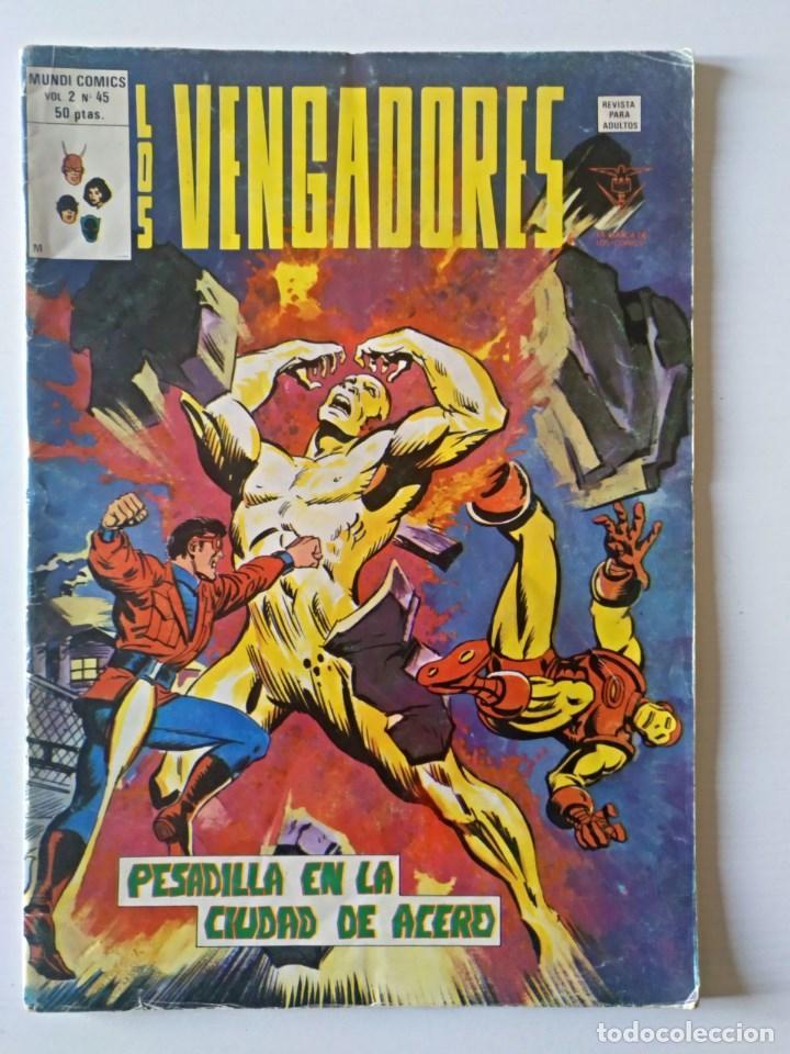LOS VENGADORES VOL. 2 Nº 45 VERTICE - SURCO - MUNDI-COMICS (Tebeos y Comics - Vértice - Super Héroes)