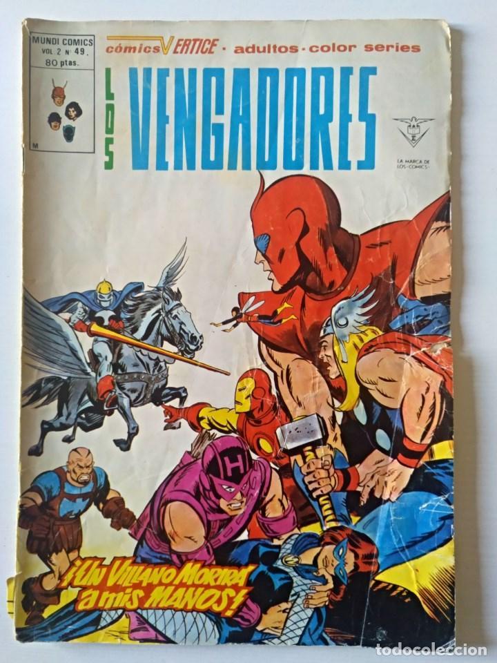 LOS VENGADORES VOL. 2 Nº 49 VERTICE - SURCO - MUNDI-COMICS (Tebeos y Comics - Vértice - Super Héroes)