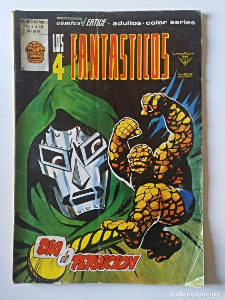 LOS 4 FANTASTICOS VOL. 3 Nº 33 VERTICE - SURCO - MUNDI-COMICS (Tebeos y Comics - Vértice - Super Héroes)