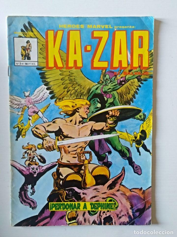 HEROES MARVEL KA-ZAR Nº 3 VERTICE - SURCO - MUNDI-COMICS (Tebeos y Comics - Vértice - Super Héroes)