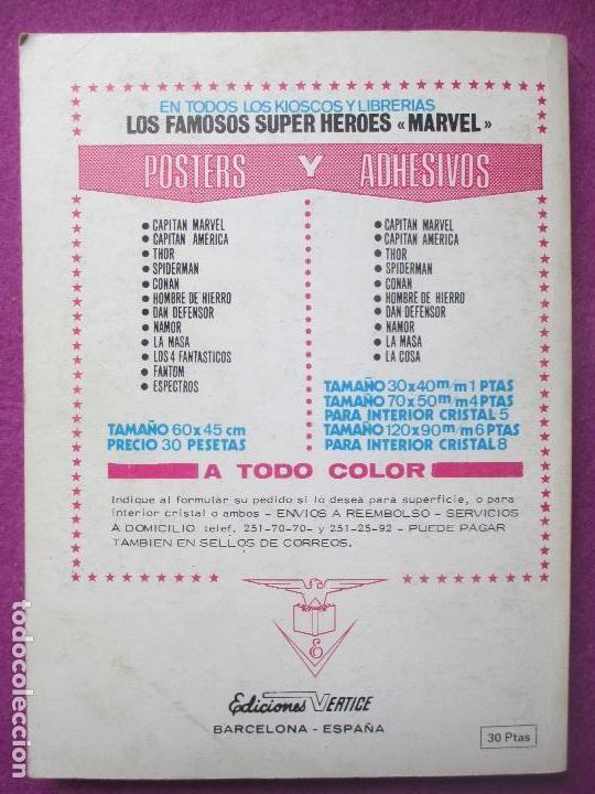 Cómics: TEBEO LOS 4 FANTASTICOS, Nº60, EL HORROR QUE CAMINA POR EL AIRE, 1973, VERTICE - Foto 2 - 104782135