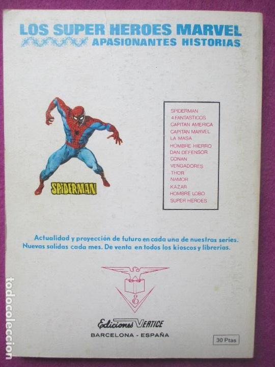 Cómics: TEBEO LOS 4 FANTASTICOS, Nº61, ESTE MUNDO ESCLAVIZADO, 1973, VERTICE - Foto 2 - 104782231