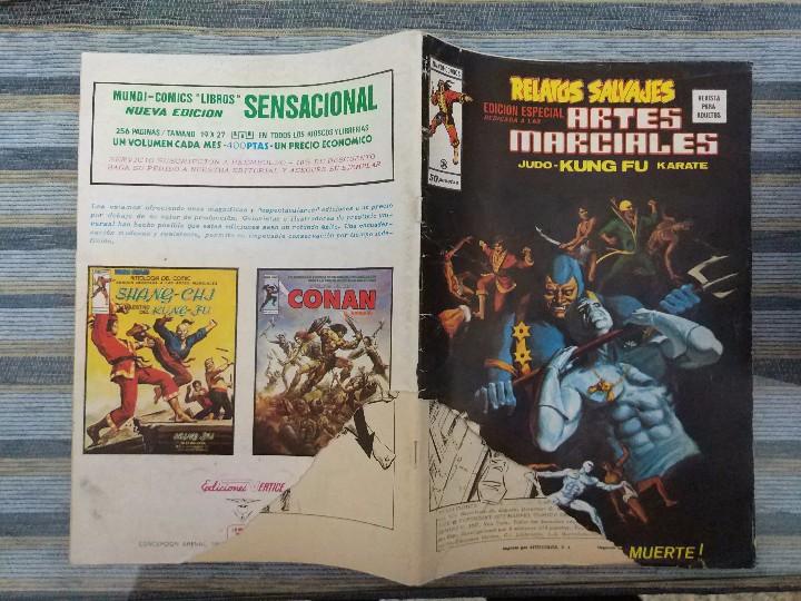 Cómics: RELATOS SALVAJES ARTES MARCIALES VOL. 1 (COMPLETA) - LOPEZ ESPI, NEAL ADAMS, DITKO (VERTICE 1973) - Foto 6 - 104890983