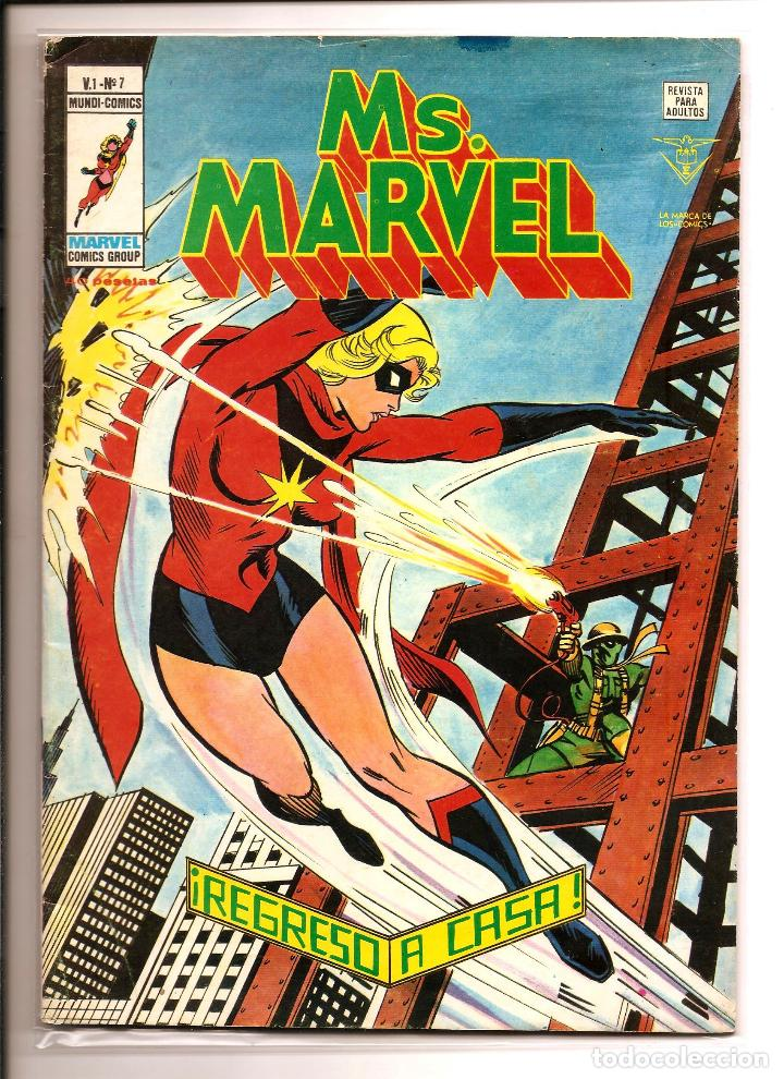 COMIC - MS. MARVEL - VERTICE MUNDI COMICS - VOL 1 Nº 7 - B/N ABRIL 1978 (Tebeos y Comics - Vértice - Super Héroes)