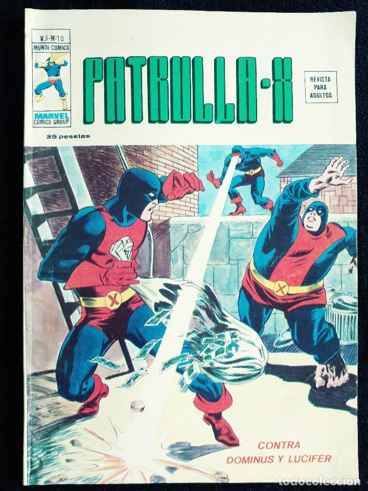 PATRULLA X - V 3 - N 10 - CONTRA DOMINUS Y LUCIFER - AÑO 1976 - MUNDI COMICS-ED VERTICE (Tebeos y Comics - Vértice - Patrulla X)