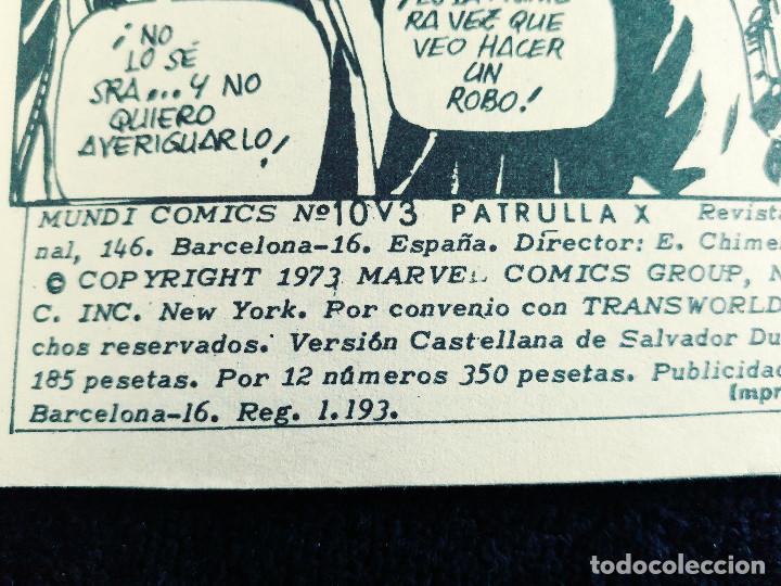 Cómics: PATRULLA X - V 3 - N 10 - CONTRA DOMINUS Y LUCIFER - AÑO 1976 - MUNDI COMICS-ED VERTICE - Foto 4 - 106559315