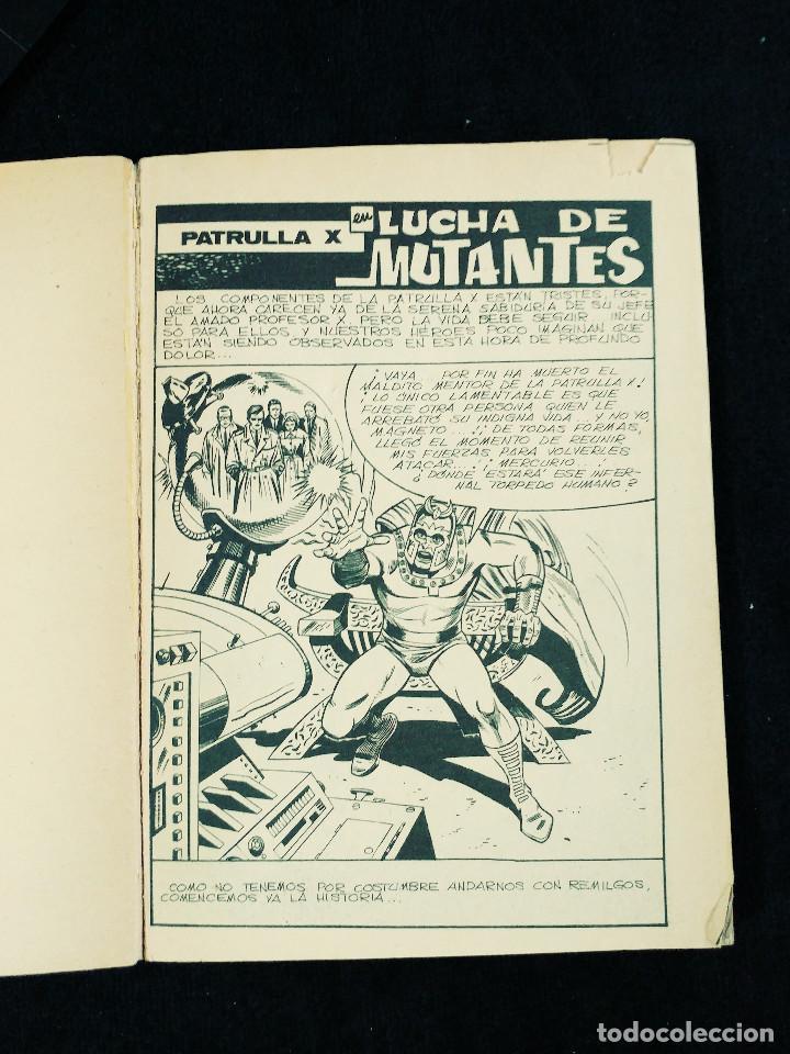 Cómics: PATRULLA X - N 25 - LUCHA DE MUTANTES - AÑO 1974 -TACO - ED VERTICE - Foto 4 - 106589463