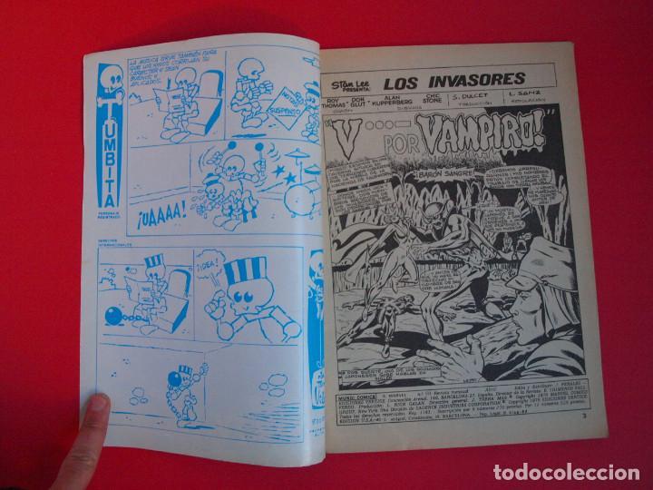 Cómics: SELECCIONES MARVEL PRESENTA: LOS INVASORES - VOL. VOLUMEN V. 1 Nº 50 - VERTICE 1980 - Foto 2 - 106926779