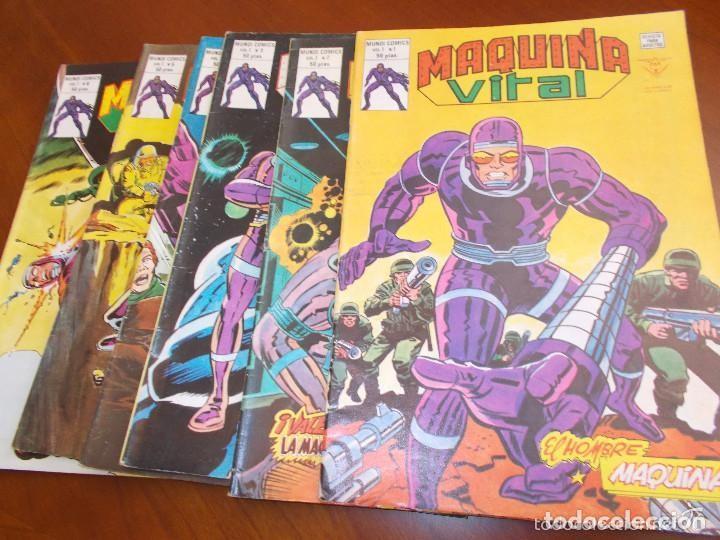 MAQUINA VITAL VERTICE COMPLETA 6 NUMEROS-MUY BUEN ESTADO (Tebeos y Comics - Vértice - Vengadores)