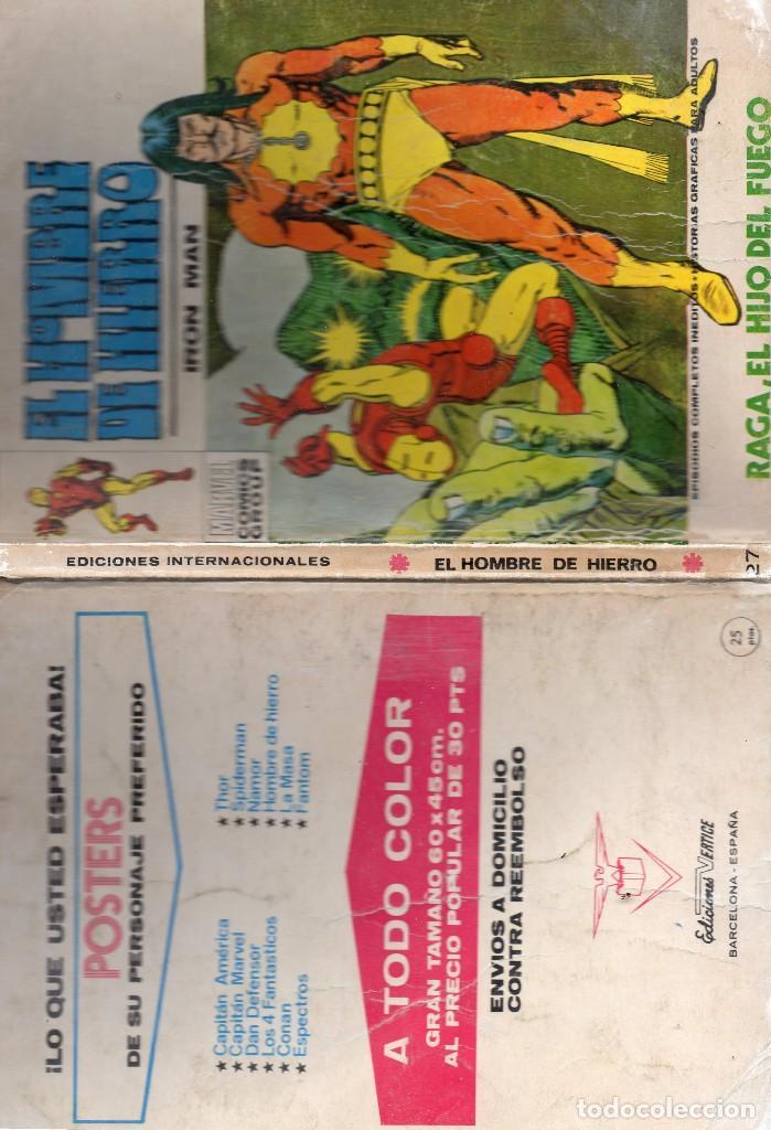 Cómics: COMIC VERTICE EL HOMBRE DE HIERRO VOL1 Nº 27 (NORMAL ESTADO) - Foto 3 - 108082103