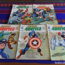 Cómics: BUEN PRECIO. VÉRTICE VOL. 2 CAPITÁN AMÉRICA NºS 1 2 3 4 5 COMPLETA. 1974. 30 PTS. DIFÍCILES. . Lote 108446063