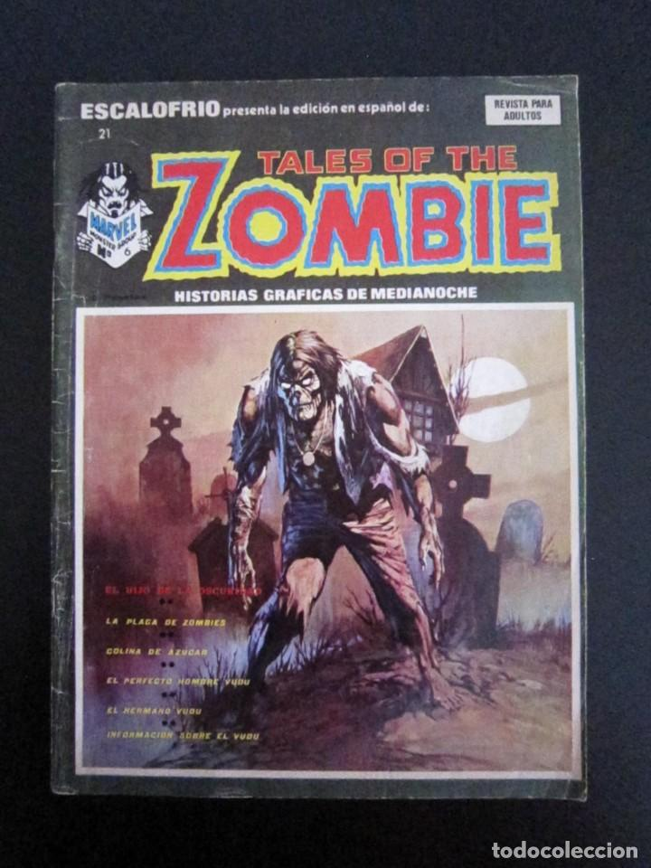 ESCALOFRÍO 21 - TALES OF THE ZOMBIE 6 - VÉRTICE - TERROR - 1974 - CÓMIC (Tebeos y Comics - Vértice - Terror)
