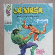 Cómics: LA MASA Nº 8. EDITORIAL VERTICE VOL. 1. Lote 110125783