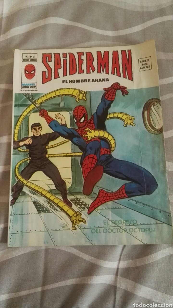 COMIC SPIDERMAN, V.3-N°6, EL REGRESO DEL DOCTOR OCTOPUS, ED. VERTICE, 1973 (Tebeos y Comics - Vértice - V.3)