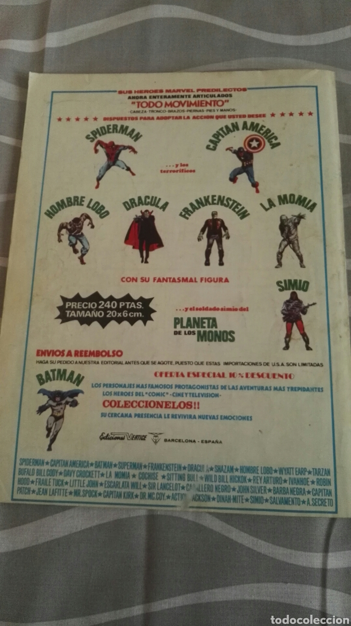 Cómics: Comic Spiderman, V.3-N°11, Donde Vuela El Escarabajo, Ed. Vertice, 1973 - Foto 4 - 110714546