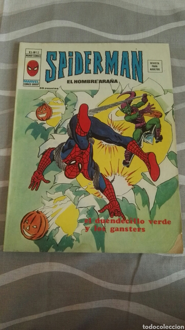 Cómics: Comic Spiderman, V.3-N°12, El Duendecillo Verde Y Los Gansters, Ed. Vertice, 1973 - Foto 1 - 110714800